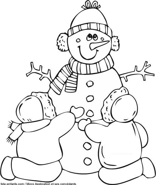 Free coloring and drawings Winter and Snow Coloring page