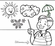 Coloring pages Winter and Weather