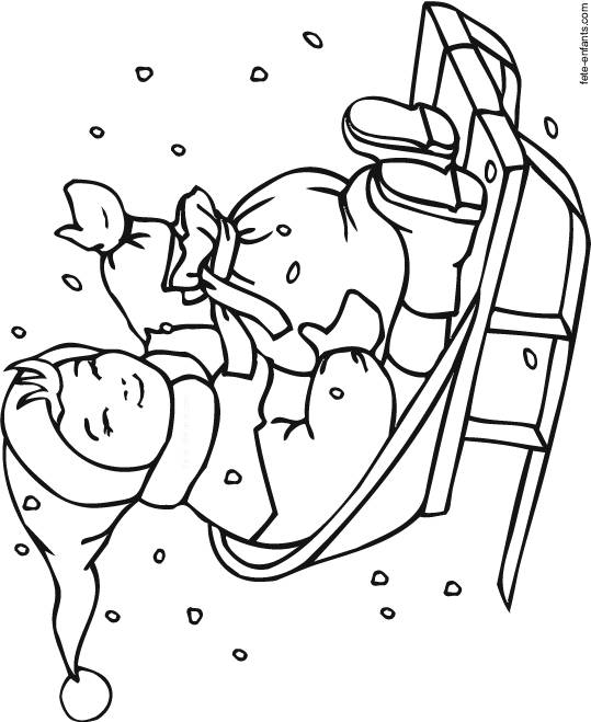 Free coloring and drawings Winter christmas Coloring page