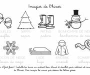 Coloring pages Winter drawing to print