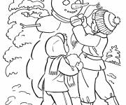 Coloring pages Winter season to decorate