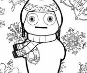 Coloring pages Winter Snowflake
