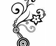 Coloring pages Abstract Flower