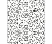 Coloring pages Abstract geometric background