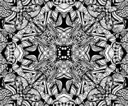Coloring pages Abstract in black