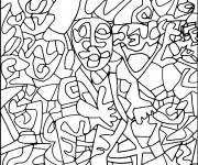 Coloring pages Abstract Man