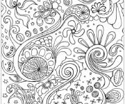 Coloring pages Abstract nature