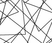 Coloring pages Abstract Triangles