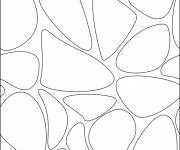 Coloring pages Easy black and white abstract