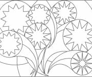 Coloring pages Stylized abstract background