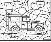 Coloring pages Addition magic car 4X4 in color