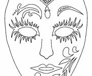 Coloring pages A Carnival Mask to color