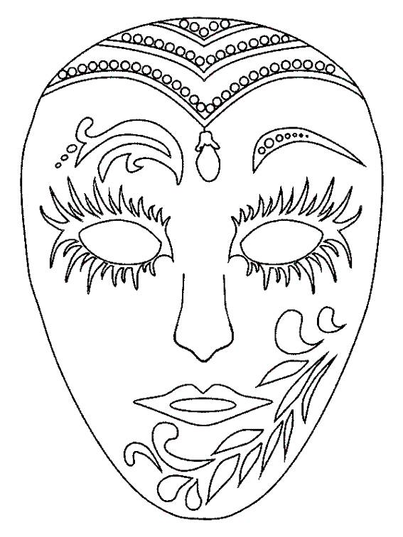Free coloring and drawings A Carnival Mask to color Coloring page