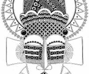 Free coloring and drawings African art Coloring page