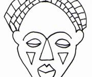 Free coloring and drawings African mask Coloring page