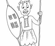 Free coloring and drawings An African carrying his arms Coloring page