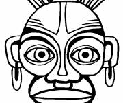 Free coloring and drawings An African mask Coloring page