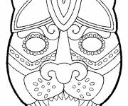 Free coloring and drawings Animal mask for decoupage Coloring page