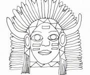Free coloring and drawings Drawing of an Indian chief Coloring page