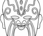 Free coloring and drawings Mask to download Coloring page