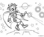 Coloring pages Combat in the universe