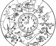 Coloring pages Africa Animal Mandala