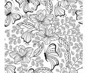 Coloring pages Anti-Stress Butterfly