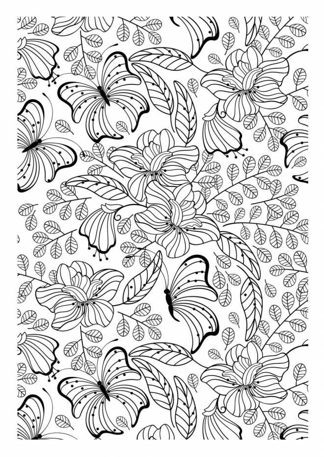 Free coloring and drawings Anti-Stress Butterfly Coloring page
