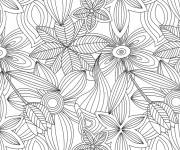 Coloring pages Anti-Stress Flowers and Leaves