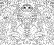 Coloring pages Art Therapy Anti-Stress with owl