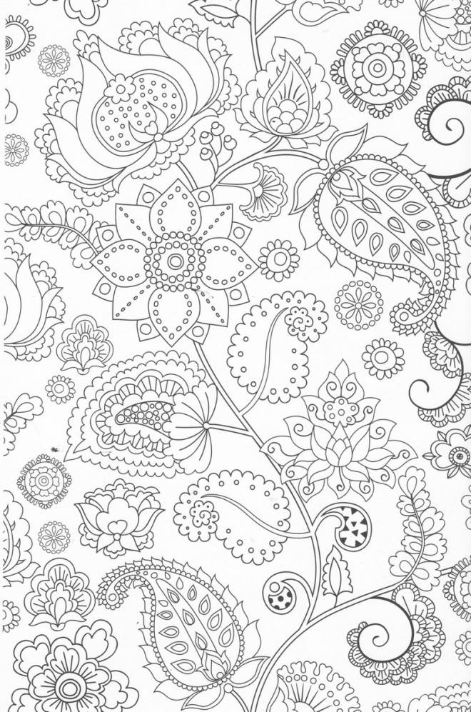 Free coloring and drawings Color Anti-Stress Coloring page