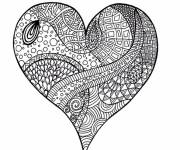 Coloring pages Art Therapy Heart