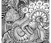 Coloring pages Black and white art therapy