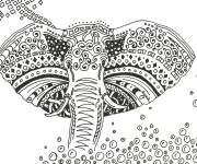 Coloring pages Elephant Art Therapy