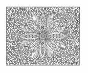 Coloring pages Flower Art Therapy