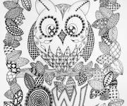 Coloring pages Owl Art Therapy