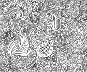 Coloring pages Very difficult art therapy