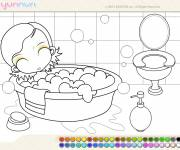 Free coloring and drawings bath Coloring page