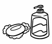 Free coloring and drawings Bathroom Soap Coloring page