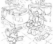 Free coloring and drawings Cartoon bathroom Coloring page