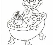 Coloring pages Child in A Bathtub
