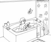 Coloring pages Children's bathroom