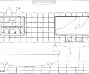 Free coloring and drawings Design Bathroom Coloring page