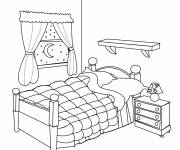 Coloring pages Bedroom