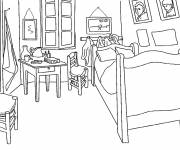 Coloring pages Boy's room