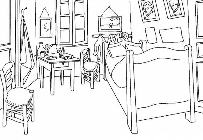 Free printable Bedroom coloring pages