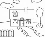 Coloring pages Easy maternal house