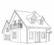 Coloring pages Front view house