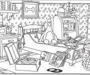 Coloring pages Penguin room