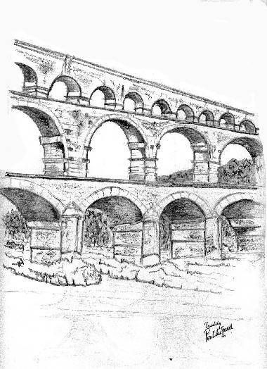 Free coloring and drawings A high pencil bridge Coloring page
